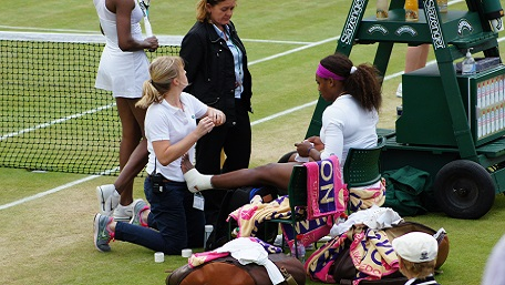 Tennis, Physio, Serena Williams, tennis physio,