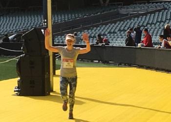 Belinda running a marathon