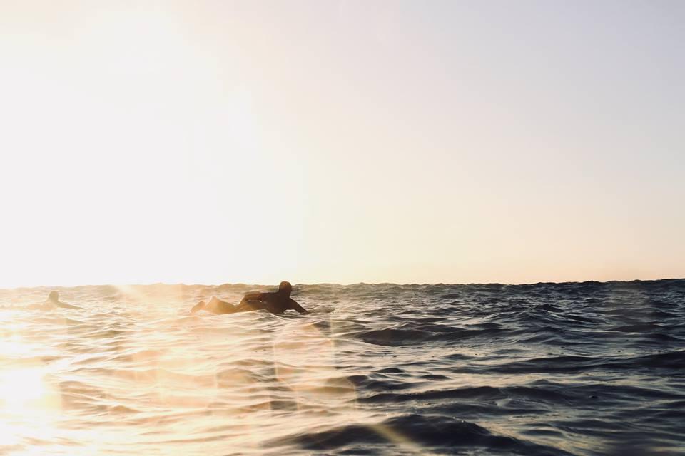 ocean, surfer, sun, sky